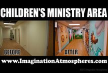 Before & After photos / Comparisons of spaces before theming and after.
