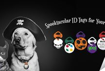 Halloween Pet Tags / Spooktacular pet ID tags for dogs and cats by Pawdentify. Each ID tag comes with a Links-It to attach tags to collars quickly and easily. Made in the USA. Lifetime guarantee.