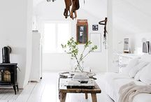 Swedish Interior Design / There is something about the simplicity, the white canvas the fur accents the structure. There is something chaotic about it yet its clean and well thought out. MY dream palette - grey, white, black, nude