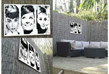 Outdoor Art & Garden Art / A collection showing art that can be hung outdoors to brighten up a yard, garden or any outside space.