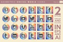 Social Media Icons / Social media icons I like. www.socialoutlier.com