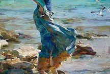 Kobieta i ocean