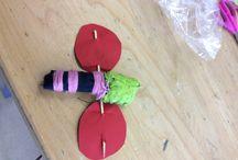 HandVaardigheid / We moesten voor handvaardigheid een kriebelbeestje maken.