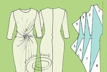 trazo de vestidos torcidos