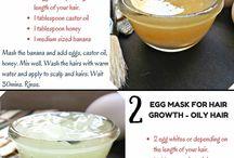 Hair care masks and DIY
