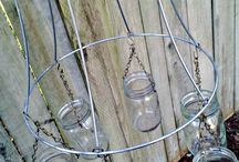 outdoors candles chandelier