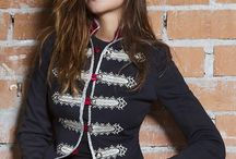 Military Jacket  / Military inspired fashion / Brass buttons, double-breasted jackets. /  Array of colors and unique elaborate styles. Dress up dress down for the casual girl and the entrepreneurial business woman.100% Spanish made women's jackets help to make up the desired look.
