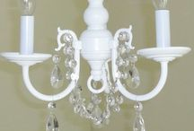 spay paint chandeliers