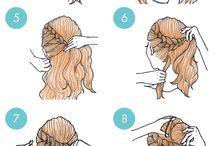 penteados e makes