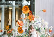 giant flower wedding