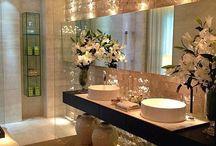 Banheiros femininos decorados e lindos!