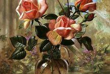 rose in glas pot