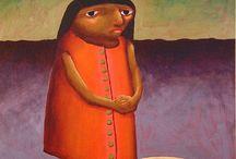 Christine Brennan / Original oil on board paintings