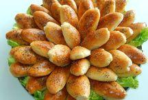 Zachte broodjes met gehakt.
