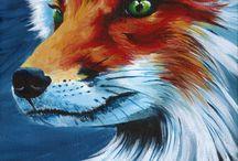 peinture renard