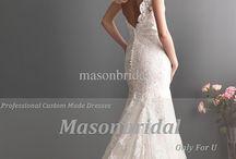 Bröllop-klänning
