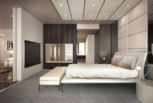 Contemporary style for hospitality / Hotel room interior, luxury hotel interior, luxury interior design, modern hotel furniture