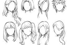 Cheveux dessin