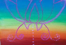 Moje tvoření - malování akrylovými barvami