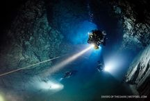 Divers of the Dark / Underwater photography from scuba divers who specialise in diving in areas where natural light is sparse or does not penetrate: caves, wrecks, mines, murky waters and night dives.