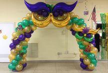 Mardi Gras Balloon Decor Inspiration