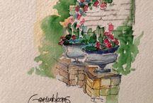 """Watercolor """" Paesaggi """""""