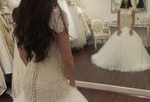 Bride Siham / Beautiful heavily beaded French lace wedding gown