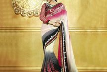 Latest Party Wear Sarees Designs / Jugniji.com : A huge sparkling collection of Indian ethnic wear in our attention-grabbing online showroom whose variety is growing every month. ## http://goo.gl/2nFTy5