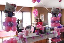 Hello Kitty Party Decorations / Hello Kitty Party Decorations, Hello Kitty Balloons, Balloon Arches, Balloon Columns, Centerpieces