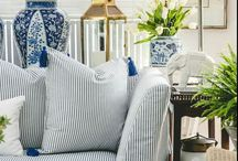 Decorating with ticking