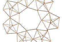 This Copper Himmeli 3D Geometric Wreath is Sooo... Versatile!