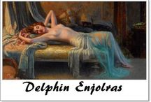 ⊱ Delphin Enjolras ⊰ / ≻  Delphin Enjolras  ~  Coucouron, May 13, 1865 –1945, Toulouse  ≺   Enjolras was a French academic painter. Enjolras painted portraits, nudes, interiors, and used mostly watercolours, oil and pastels.