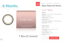 www.colorcl.com) Blanc Rose Color Contact Lens / #Colorcontactlens, #CirCleLens, #Colorcl, #Colorlenses #Contactlenses, #Contact, #beuty