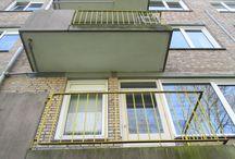 Sittard, Vrangendael / Renovatie, vervangen afgekeurde balkons. Nieuwe balkons compleet met hekwerk gemonteerd