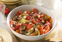 salads, green, grain and bean
