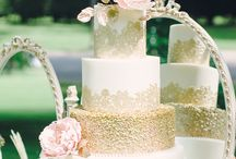 Blush Pink, White and Gold / Trailing head table or cake table design