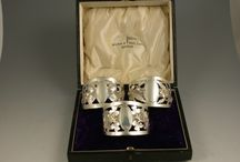 Antique Silver Napkin Rings / Some of our antique silver napkin rings for sale