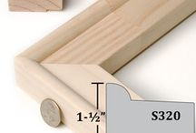 Stretcher Bar Frames for Canvas / Our Stretcher Bar Frames are built from wood strainer stock. They are unfinished frames that you stretch rolled canvas over.