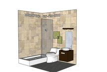 BATHROOM: 5x7 / Want a free design for YOUR BATHROOM?  Send Info to Marmotech, Inc at Facebook