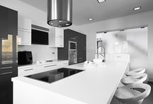 White and/or Black Kitchen Designs / An All-Style Selection of White and/or Black Kitchen Designs