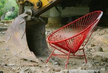 """GOOarquitectos sillas acapulco / La decisión de fabricar Sillas Acapulcos no solo es un tema de negocio. Nos acerca a la posibilidad de experimentar con materiales, formas y diseños. Entender y aprender de los todo objeto requiere de un secuencia ordenada de procesos ha sido la gran enseñanza. Tiempos, promovedores, costos, administración, coordinación. """"Hacer para aprender"""""""