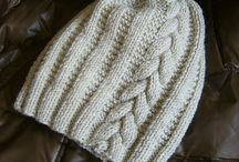 Cable hat for me / Beanie with vertical cables no cuff no pompom