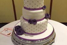 Purple diamantie cake