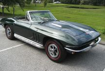 1965 Glenn Green Corvette Convertible for Sale. / '65 Glenn Green Corvette Convertible with 327 CID, 4 speed, Vintage Air, Side Pipes, Original wheels and hubcaps, rust free chassis, big block hood is GM, not aftermarket. Drive this car anywhere.
