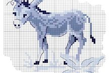 Cross stitch - donkeys