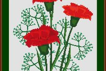 Flowers: cross-stitch / My collection of free cross-stitch patterns for flowers of all kinds