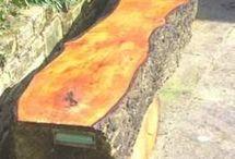 rustic seats