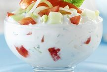 Salade de tomates et concombres au yaourt