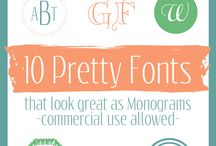 FoNtS / by My Mind's Eye inc