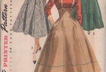 vintage sewing patterns (poses)